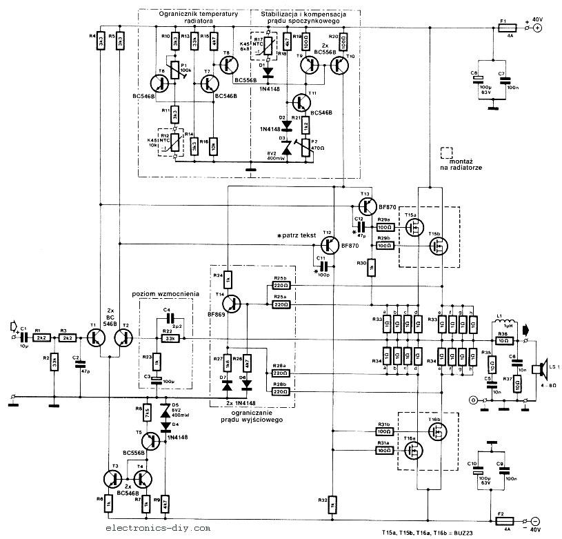 240w mosfet power audio amplifier