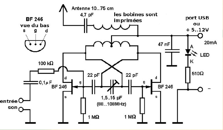 rf transmitter receiver circuit diagram