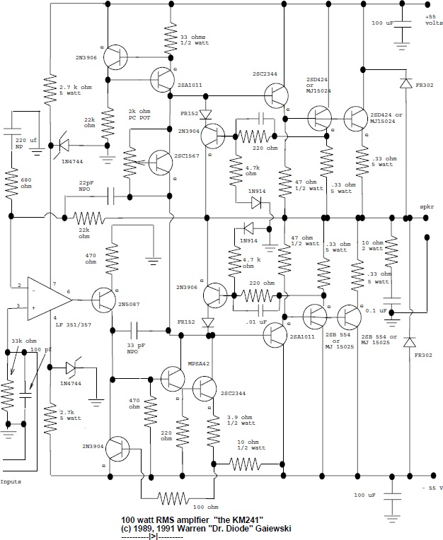 circuits schematic mono audio mixer audio amplifier schematic