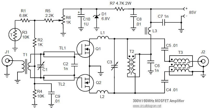 mosfet linear amplifier 300w 50mhz