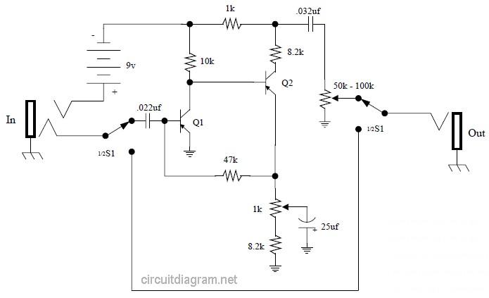 tone booster schematic diagram