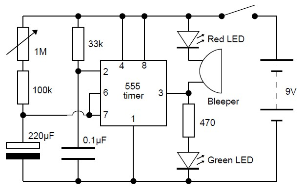 10 minutes timer circuit schematic diagram