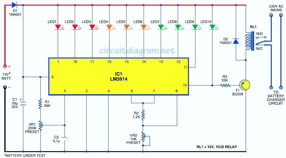 Led Wire Furthermore Lm3914 Circuit Diagram car block wiring diagram