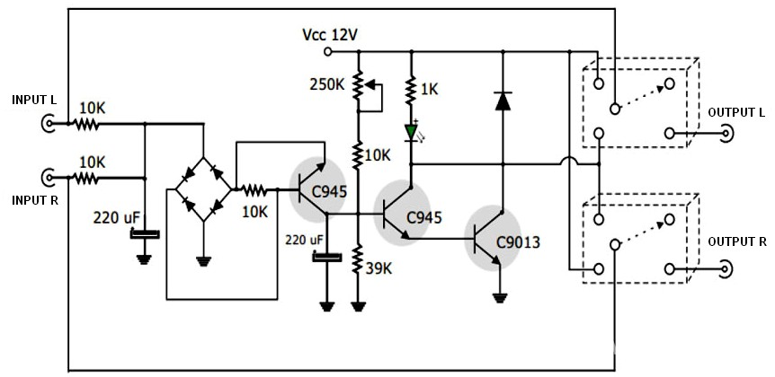 Active Speaker Protector Circuit and PCB Layout Schematic Design