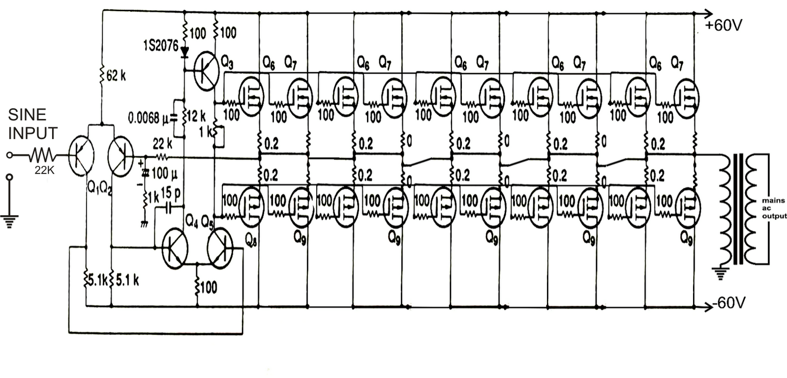 simple flyback transformer schematics for an inductor and a flyback