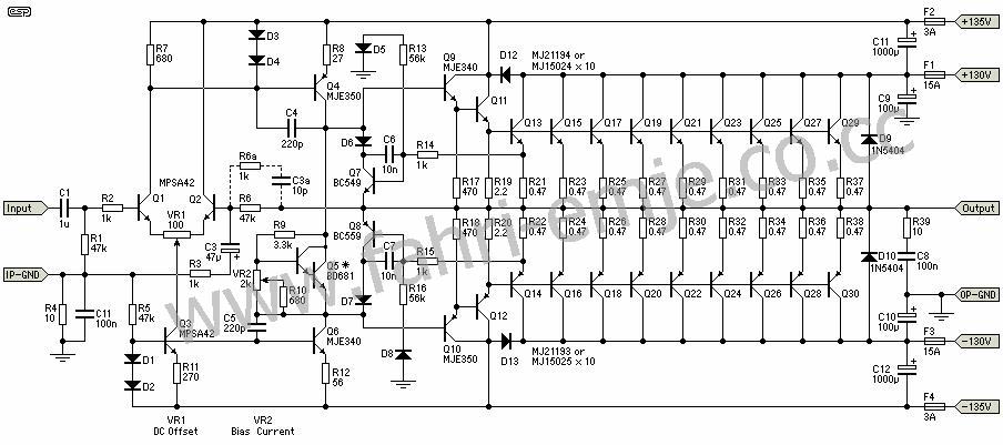 2000w power amplifier circuit diagram datasheet