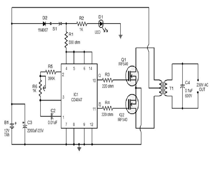 simple 250w inverter circuit diagram electronic circuit diagrams