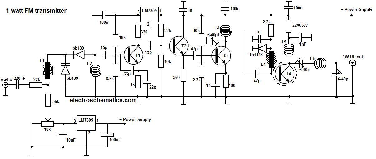 low power fm transmitter circuit