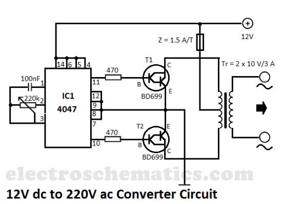 ac 220v schematic wiring