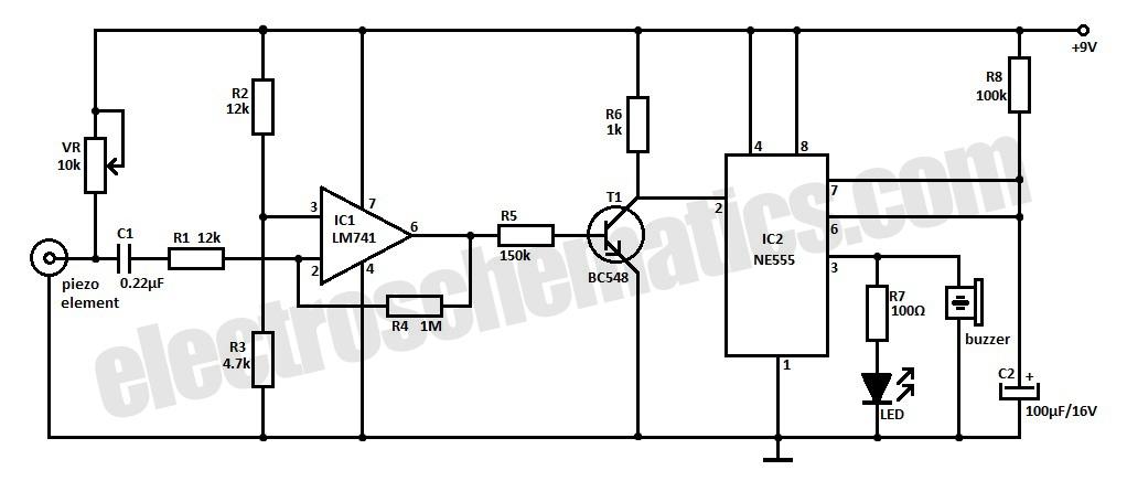home measure vibration sensor detector circuit