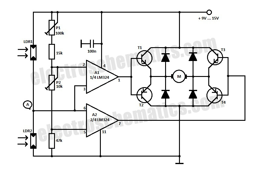solar tracking system schematic