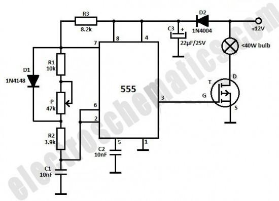 220v light dimmer switch circuit for bulbs