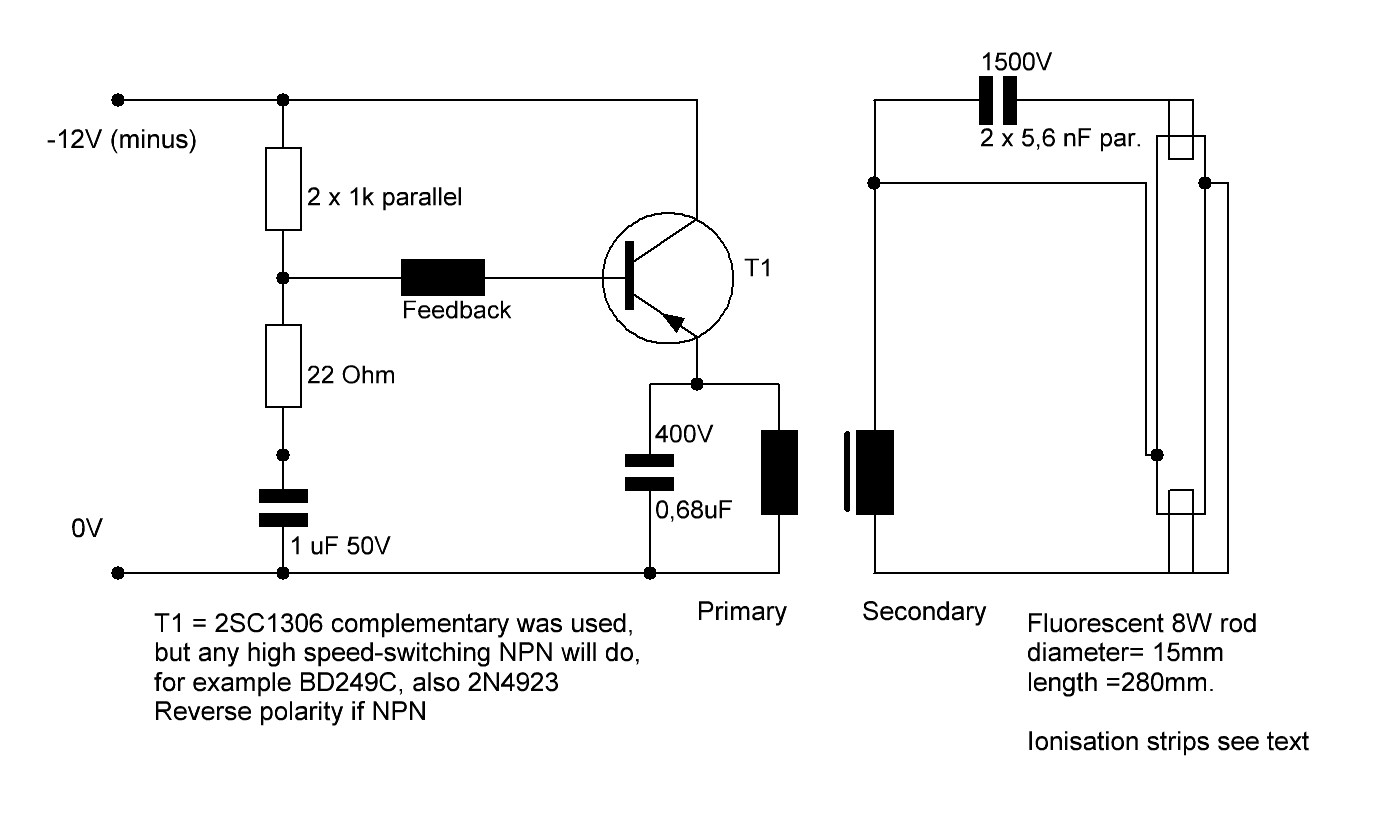 Fluorescent Lamp Starter Circuit Fluorescent Lamp Driver Circuit And Project