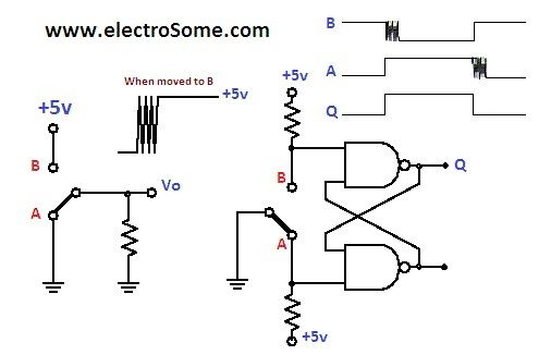 switch debounce using 555 ic