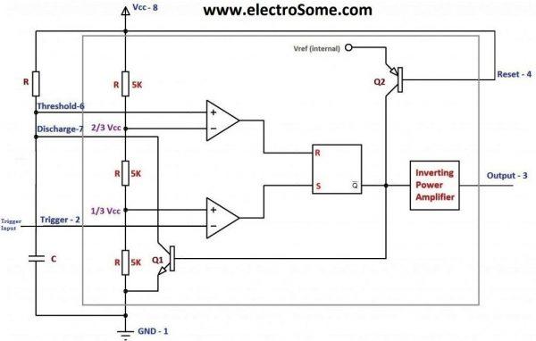 Circuit Diagram Of Monostable Multivibrator Using Ic 555 - Wwwcasei