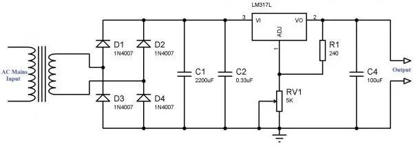 circuit diagram power supply circuit 5v 10a regulated power supply