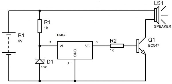 voltage regulator on breadboard
