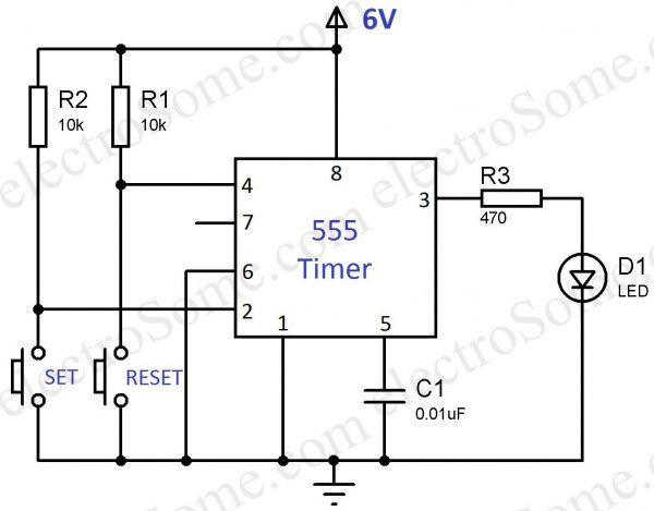 Bistable Multivibrator using 555 Timer
