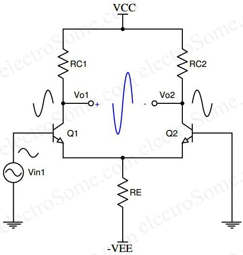 the common collector transistor circuit is shown above this common