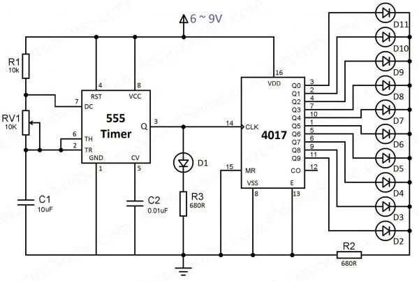 ac led circuit diagram