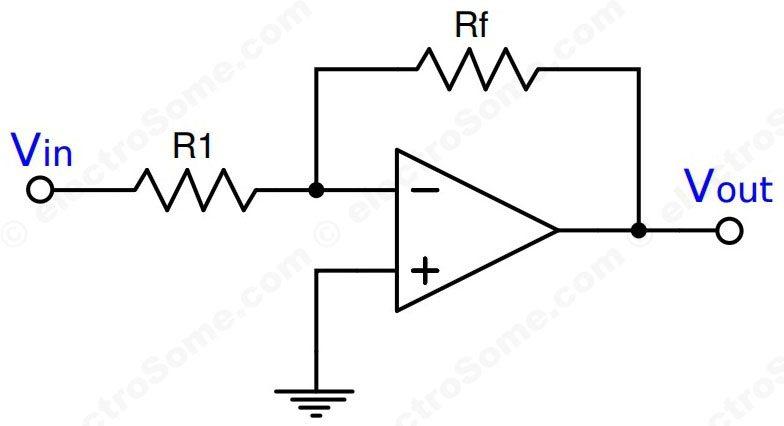 Inverting Amplifier using Opamp