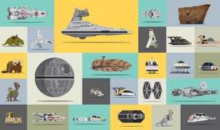 el tamaño de todos los vehículos de Star Wars