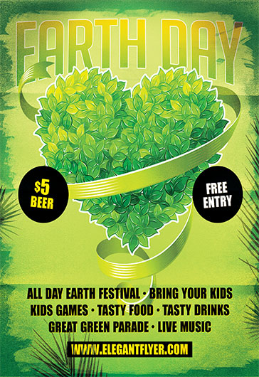 Birthday Animation For Facebook Earth Day Celebration – Flyer Psd Template – By Elegantflyer