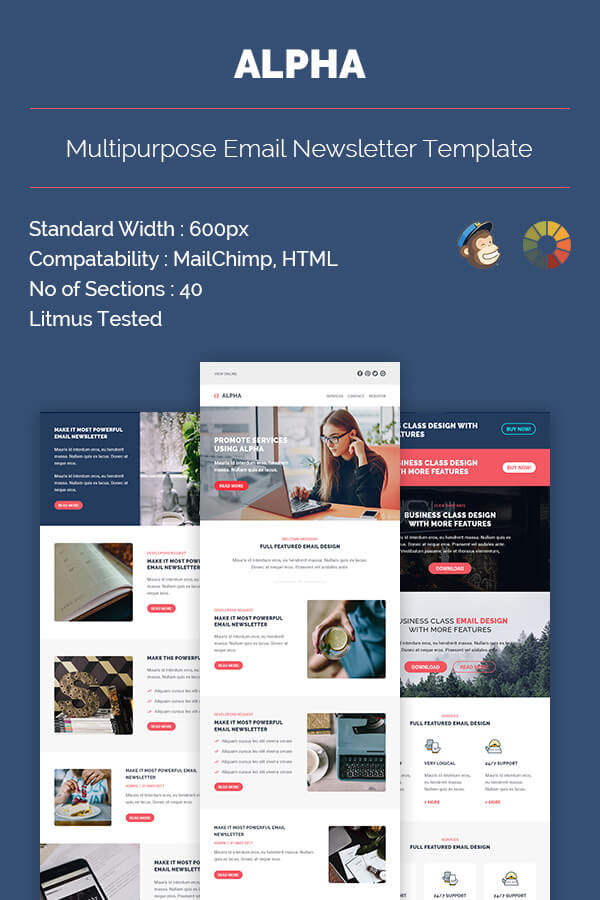 Alpha Email Newsletter Template