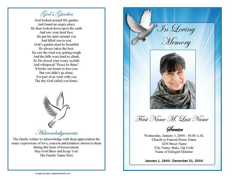 funeral program backgrounds - Pinarkubkireklamowe