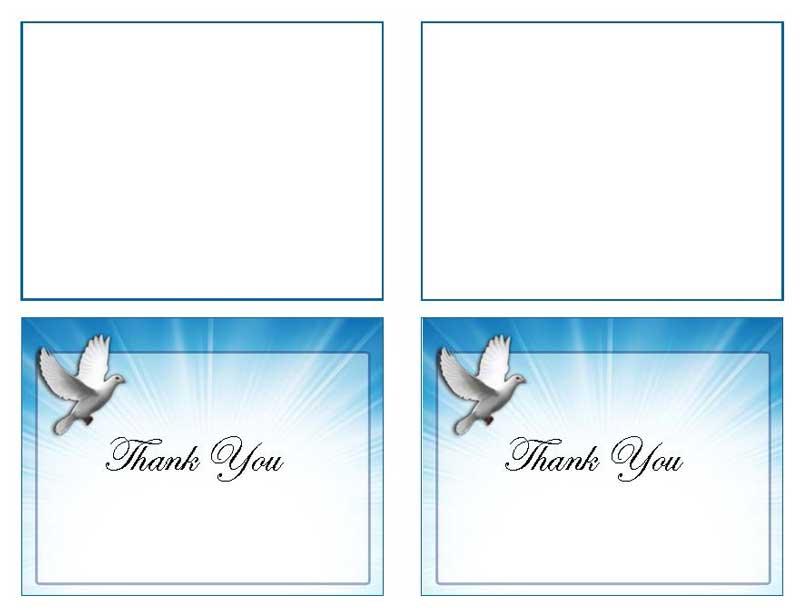 Celestial Dove Thank You Card Template - Elegant Memorials