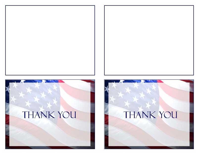 Patriotic (US) Thank You Card Template - Elegant Memorials