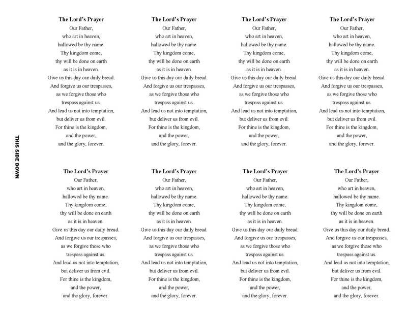 Brown Sunset Memorial Prayer Card Template - Elegant Memorials