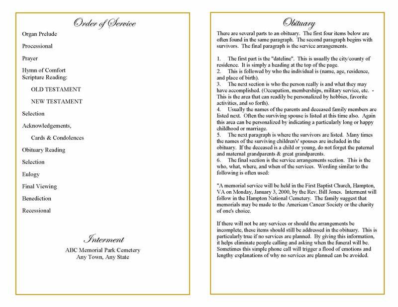 Cherished White Roses Funeral Program Template - Elegant Memorials