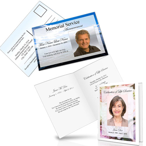 Funeral Announcements Memorial Announcement Template Obituary
