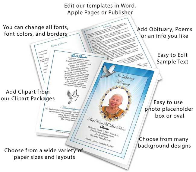 Select a Funeral Program Design and Layout - Elegant Memorials