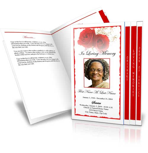 Funeral Program Template Funeral Programs Obituary Template - free obituary program template