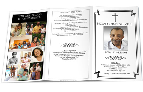 Christian Funeral Programs Sample Funeral Program Christian - memorial program