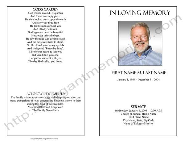 Funeral Program Template Sample Simple Funeral Program - funeral program word template