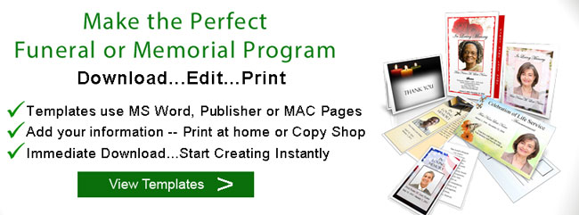 What is a Funeral Program Memorial Programs Funeral Templates - program for a funeral