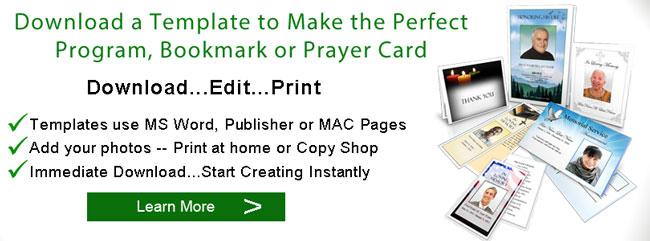 Download a Funeral Program Template Funeral Programs - Elegant