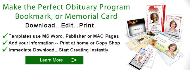 Obituary Templates - free obituary program template