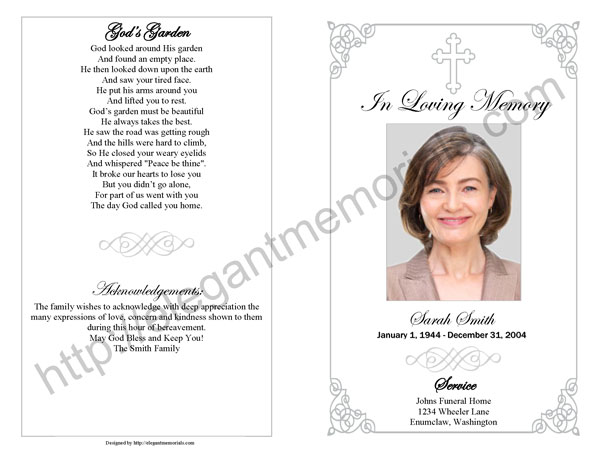 Memorial Service Program Sample Funeral Programs Examples for - program for a funeral