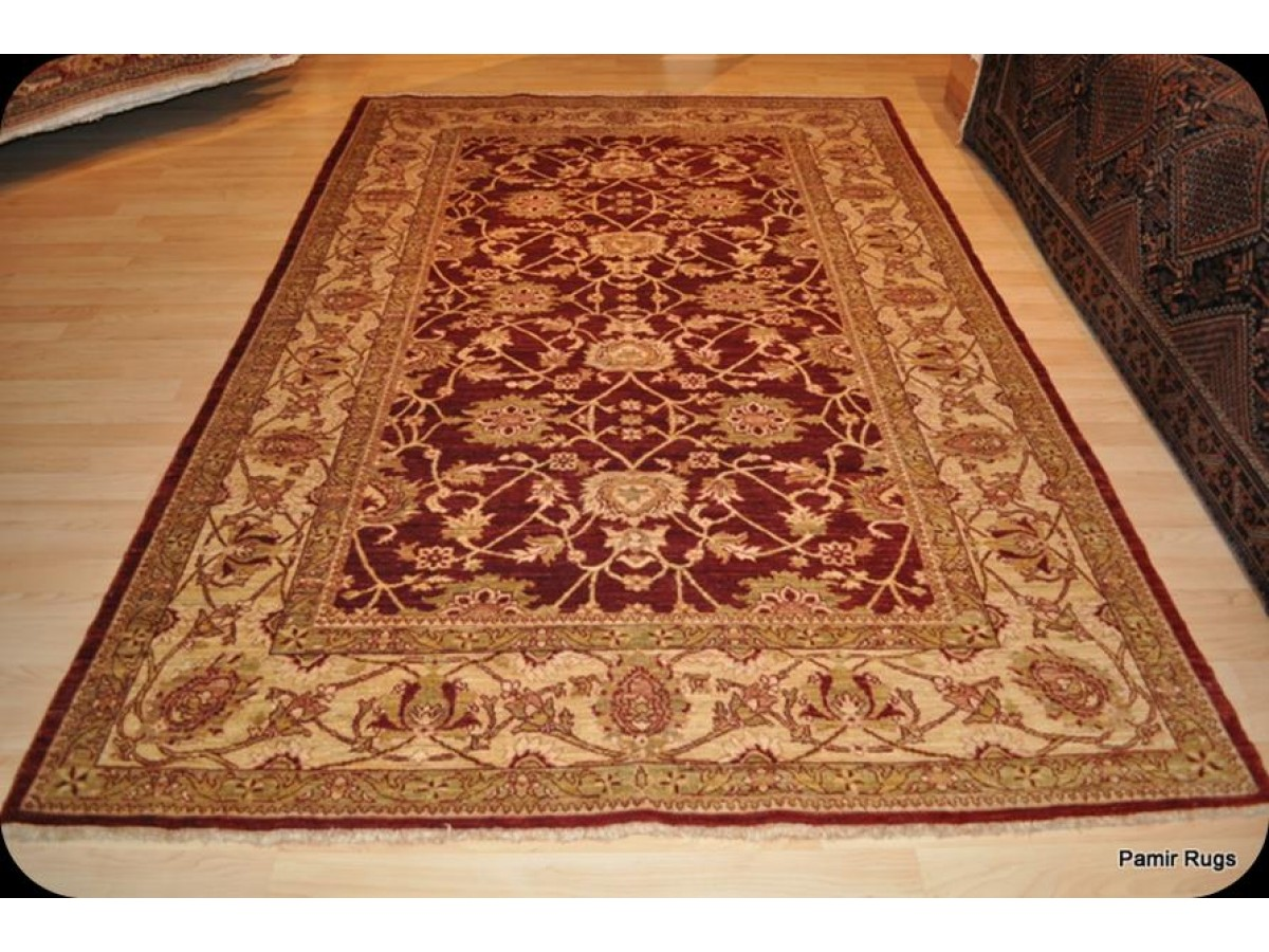 Red Oriental Rug Elegant Handmade Persian Rug 6 39 X 9 39 Cherry Red Background