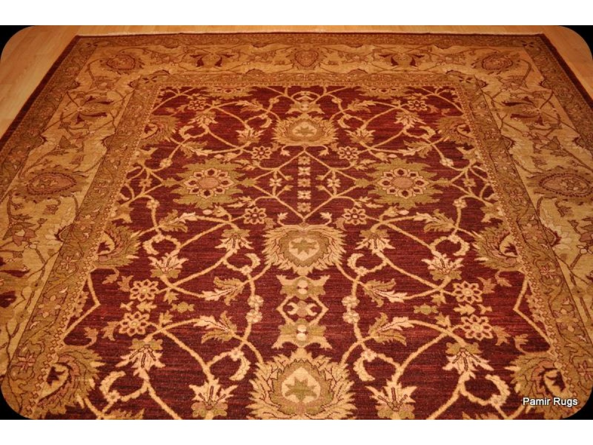 Red Oriental Rug Tuscan Red 9 39 X 12 39 Fine Quality Handmade Persian Rug With