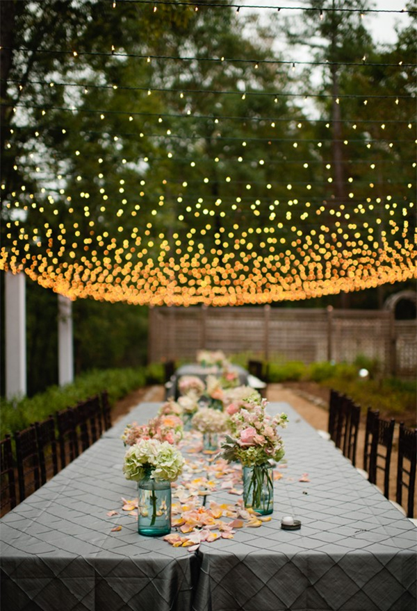 Breathtaking Wedding Reception Décor Ideas With String
