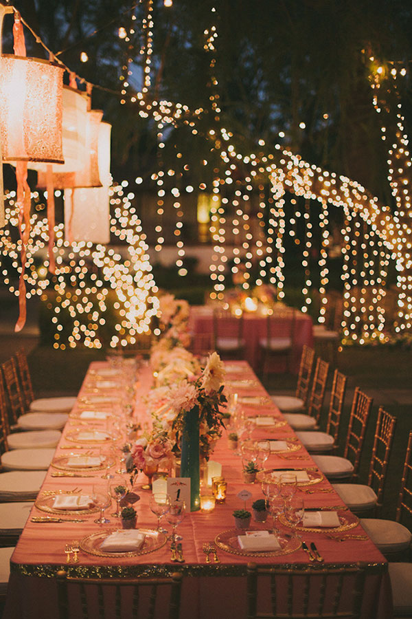 Hanging Edison Lights Breathtaking Wedding Reception Décor Ideas With String