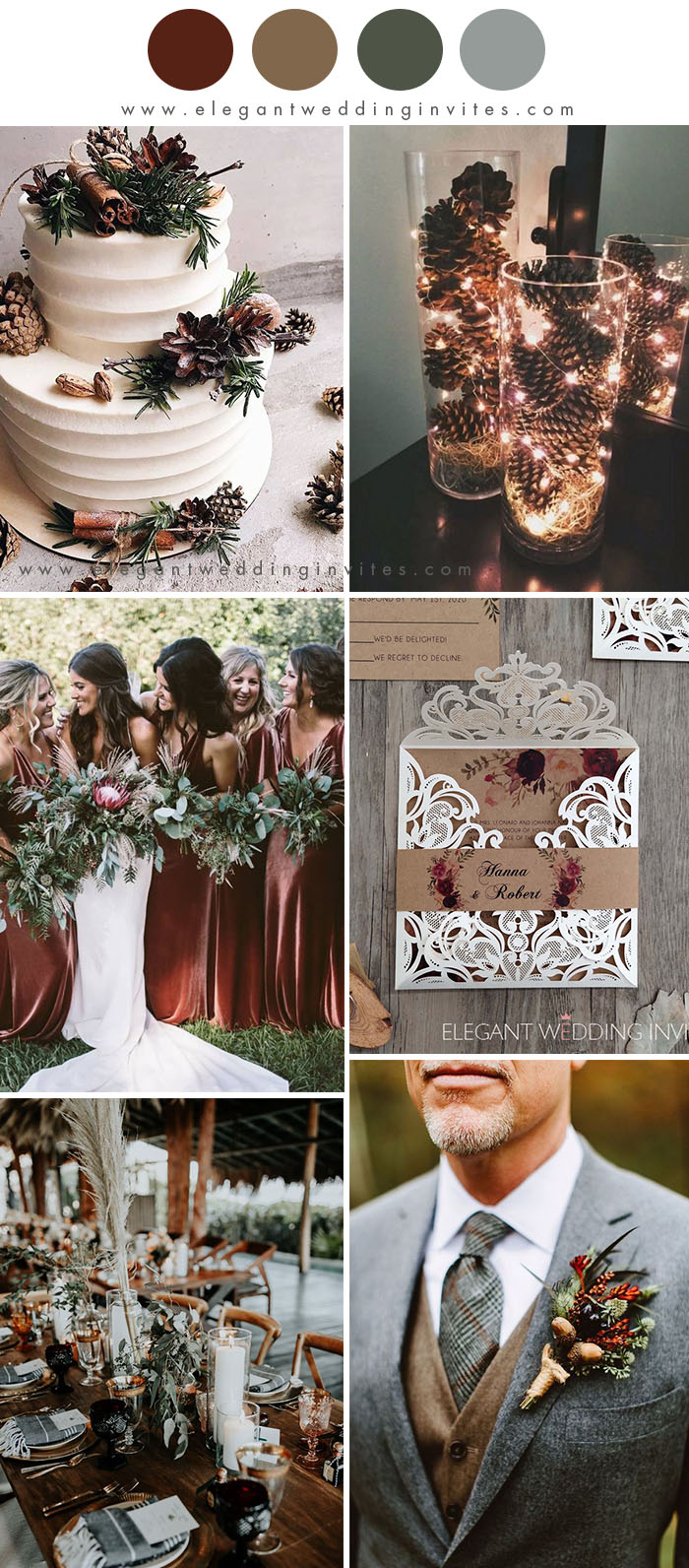 10 Best Winter Wedding Color Palettes For 2020 2021 Elegantweddinginvites Com Blog