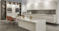 White Kitchen Cabinets Without Handles Youtube With ...