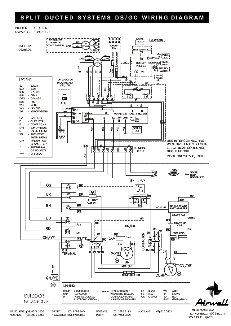 york split ac wiring diagram