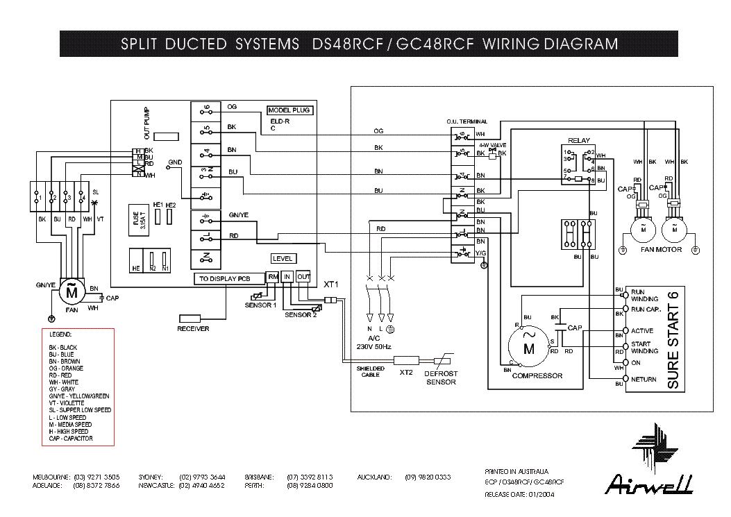 air conditioner electrical diagram